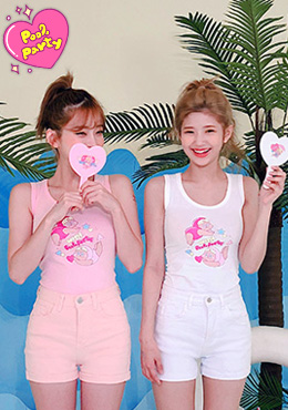 LEEGONG POOL PARTY swimming pool sleeveless 패션쇼핑몰 츄(Chuu)